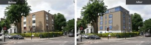 Before and After photo of Abby Road airspace development